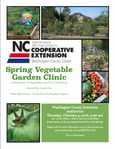Cover photo for Spring Vegetable and Fruit Gardening Clinic