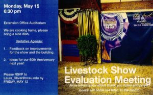 Cover photo for Livestock Show Evaluation Meeting