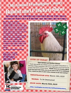 Cover photo for Rabbit & Chicken Show Rescheduled for Spring Break