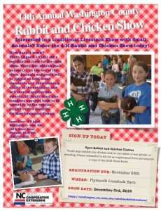 Cover photo for Rabbit and Chicken Show - Register TODAY!