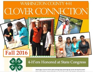 Cover photo for 4-H Clover Connection - Fall 2016