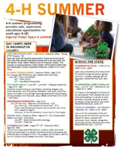 Cover photo for 4-H Summer Programs! Sign-Up Today!
