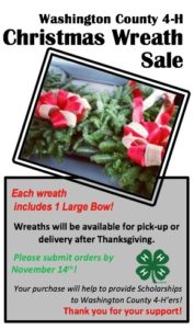 Cover photo for 4-H Christmas Wreath Fundraiser Begins