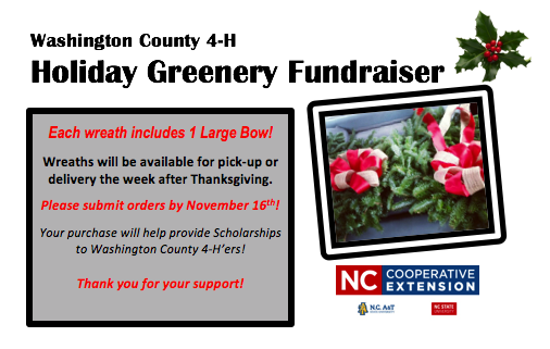 Holiday Greenery Fundraiser flyer