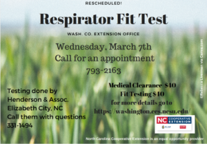 Cover photo for Rescheduled! Washington County Respirator Fit Testing