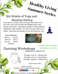 Cover photo for Washington County Healthy Living Summer Series