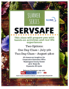 Cover photo for ServSafe Summer 2018