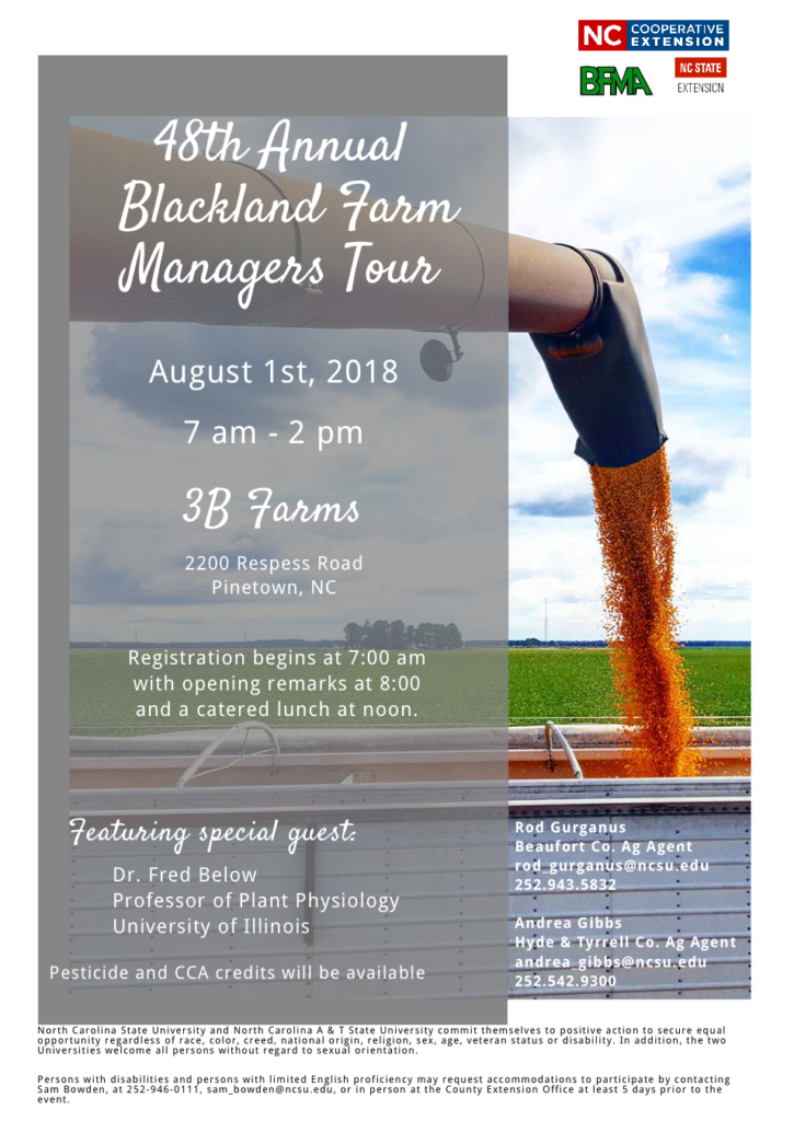 48th Annual Blackland Farm Managers Tour flyer image
