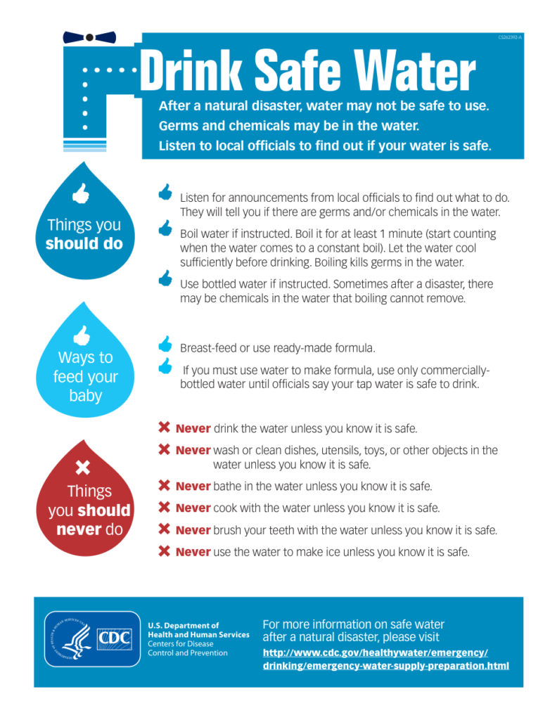Drink Safe Water flyer image