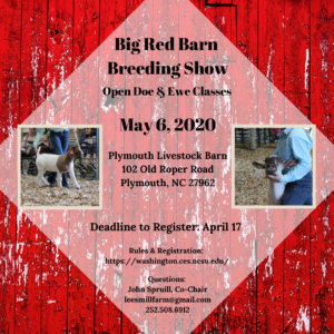 Flyer promoting Big Red Barn Breeding Show