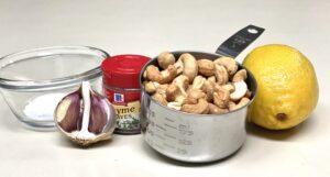 Cashews, Garlic Bulb, Fresh Lemon