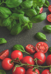 Fresh Spinach and Tomatoes
